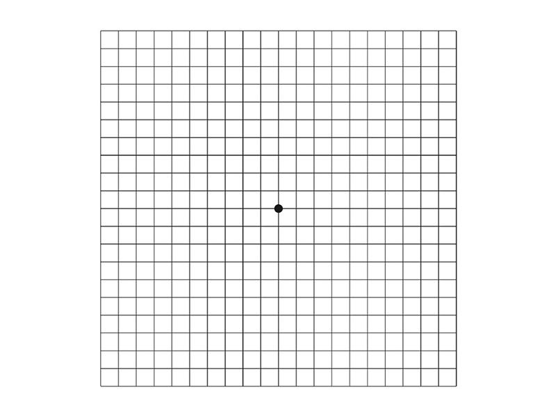 Amsler Test Gesundes Auge